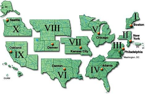 The Ten FEMA Zones