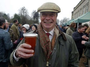 Cheers, Mr. Farage!